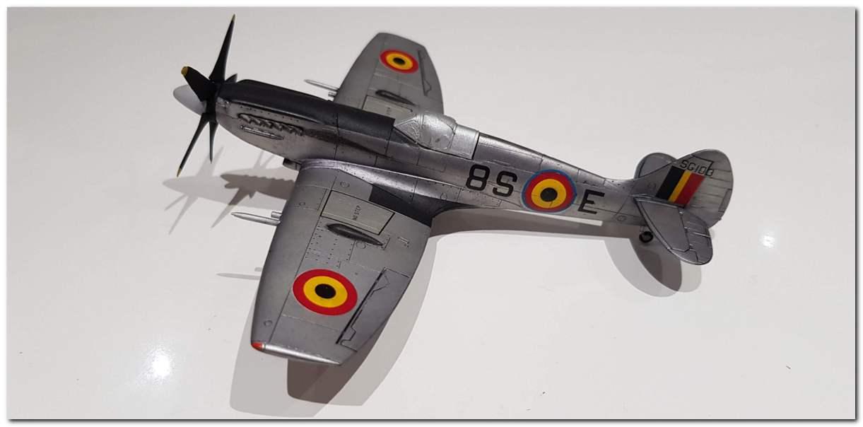 [Fujimi] Spitfire F Mk XIV Belgian Air Force circa 1952 20181105_212947s