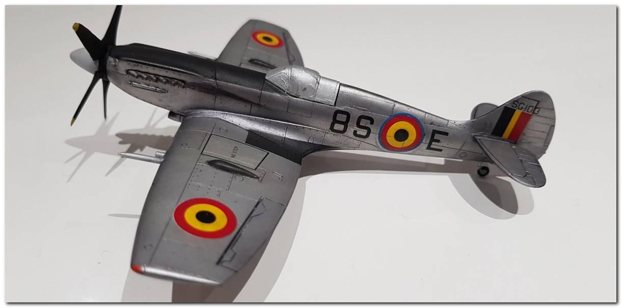[Fujimi] Spitfire F Mk XIV Belgian Air Force circa 1952 20181105_212956s