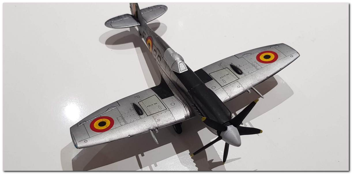 [Fujimi] Spitfire F Mk XIV Belgian Air Force circa 1952 20181105_213032s
