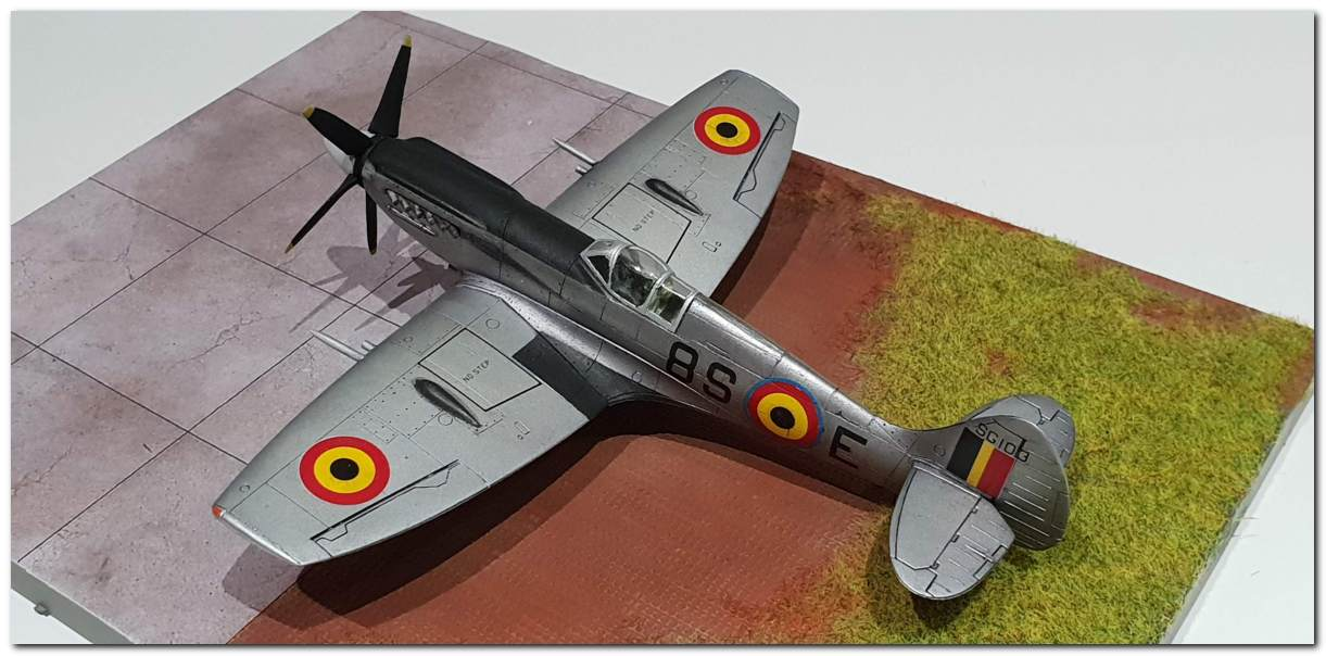 [Fujimi] Spitfire F Mk XIV Belgian Air Force circa 1952 20181231_163308s