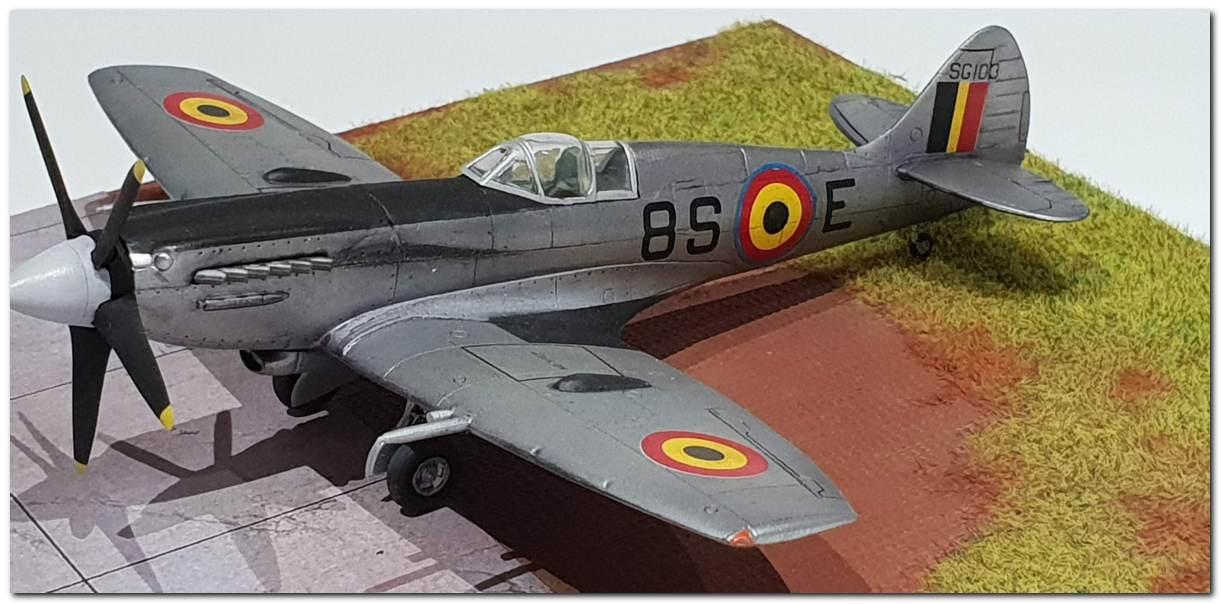 [Fujimi] Spitfire F Mk XIV Belgian Air Force circa 1952 20181231_163325s
