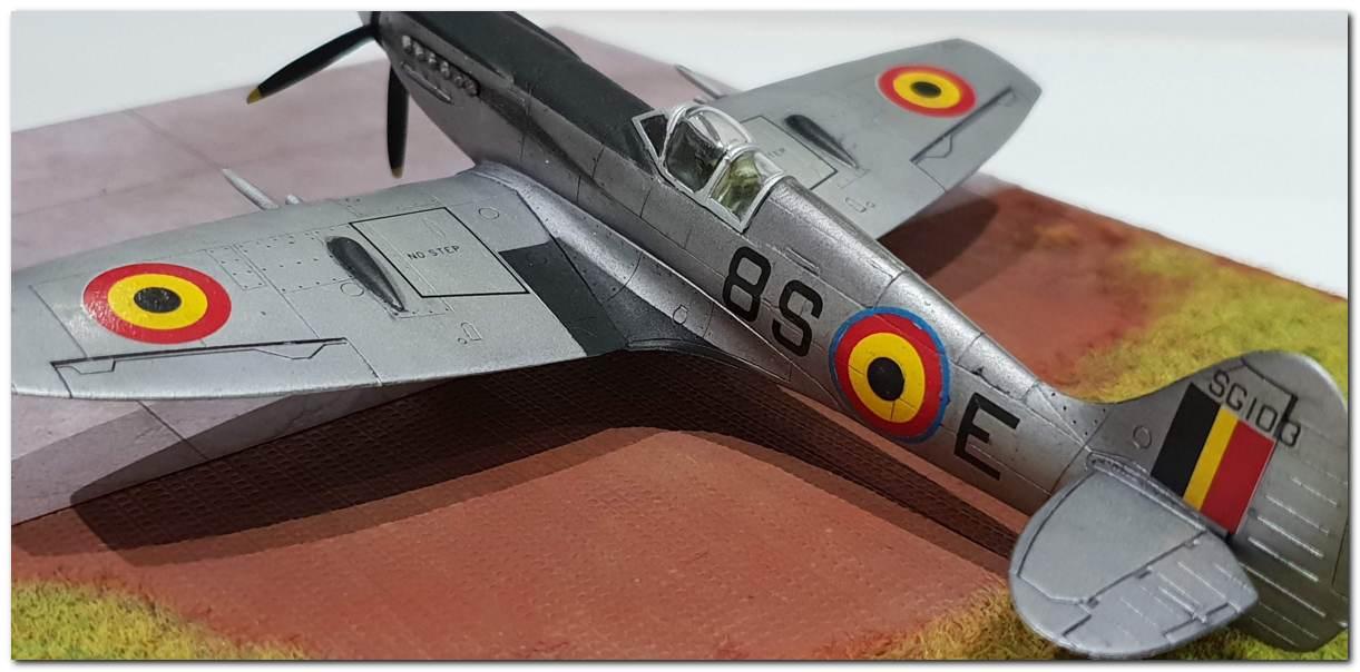 [Fujimi] Spitfire F Mk XIV Belgian Air Force circa 1952 20181231_163544s