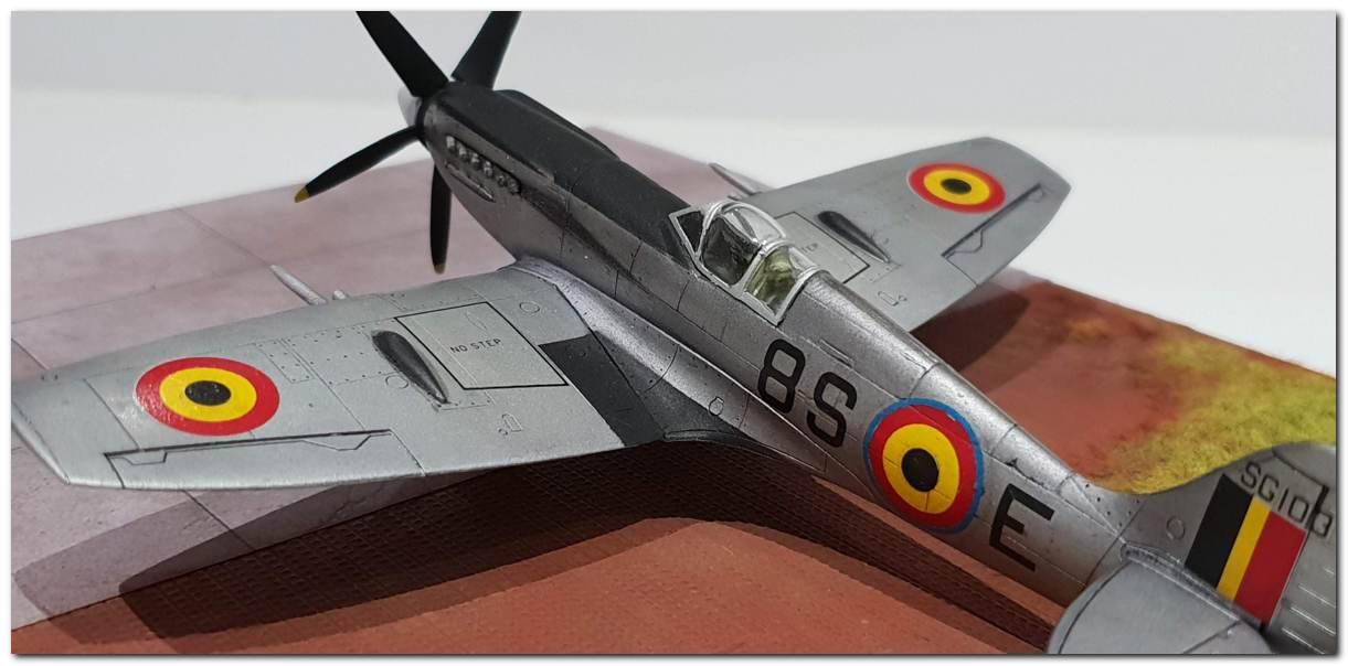[Fujimi] Spitfire F Mk XIV Belgian Air Force circa 1952 20181231_163549s